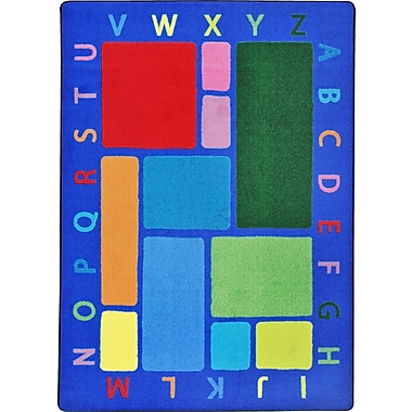 Joy Carpets – Tapis Building Blocks, 3 pi 10 po x 5 pi 4 po, couleurs variées