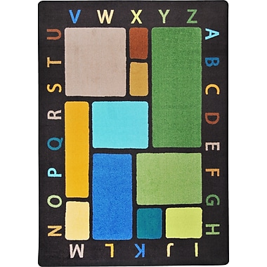 Joy Carpets – Tapis Building Blocks, 5 pi 4 po x 7 pi 8 po, tons de terre