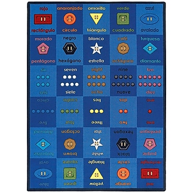 Joy Carpets – Tapis Button Button, 7 pi 8 po x 10 pi 9 po, couleurs variées