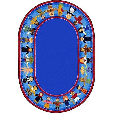 Joy Carpets – Tapis Children of Many Cultures, 10 pi 9 po x 13 pi 2 po, ovale, couleurs variées