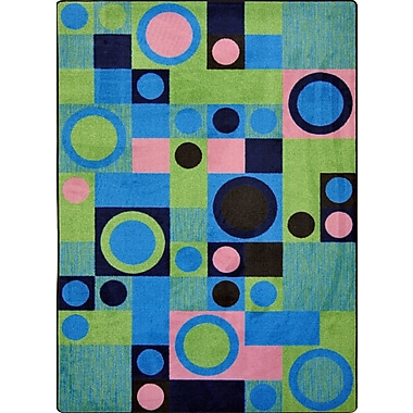 Joy Carpets – Tapis City Block, 5 po x 7 pi 8 po, vert