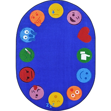 Joy carpets – Tapis bordure emojis, 7 pi 7 po, Rond Multi