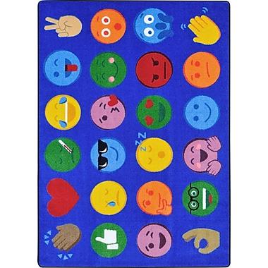 Joy carpets – Tapis expressions emoji, 10 pi 9 po x 13 pi, Multi
