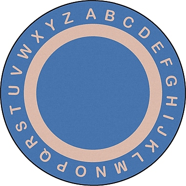 Joy Carpets – Tapis Endless Alphabet, 13 pi, rond, bleu mer