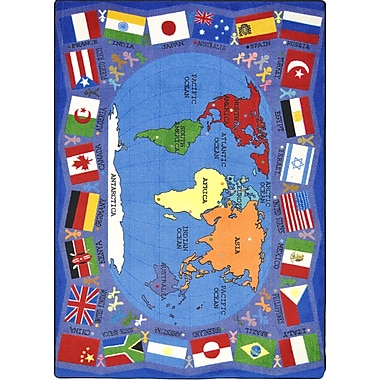 Joy Carpets – Tapis Flags of the World, 10 pi 9 po x 13 pi, couleurs variées