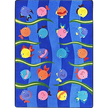 Joy Carpets – Tapis Friendly Fish, 10 pi 9 po x 13 pi, couleurs variées