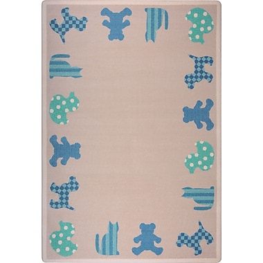 Joy Carpets – Tapis Frisky Friends, 10 pi 9 po x 13 pi 2 po, bleu