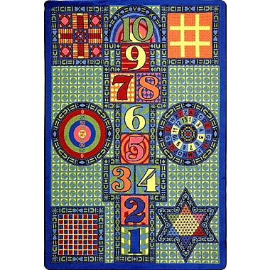 Joy Carpets – Tapis Games Galore, 5 pi x 7 pi 8 po