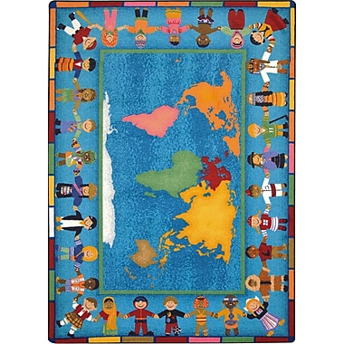 Joy Carpets – Tapis Hands Around the World, 5 pi 4 po x 7 pi 8 po, couleurs variées