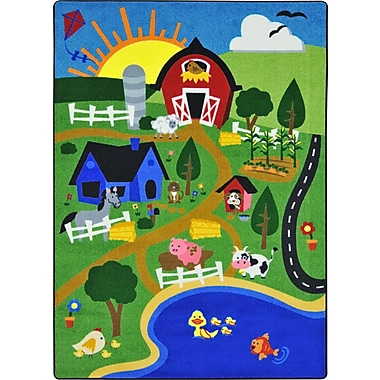 Joy Carpets – Tapis Happy Farm, 7 pi 8 po x 10 pi 9 po, couleurs variées