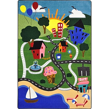 Joy Carpets – Tapis Happy town, 10 pi 9 po x 13 pi, multicolore