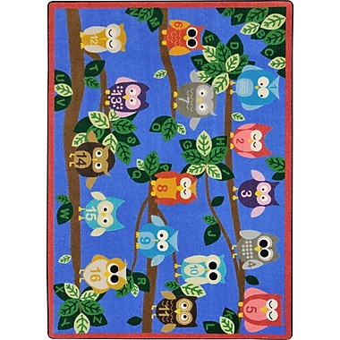 Joy Carpets – Tapis It's a Hoot, 7 pi 8 po x 10 pi 9 po, couleurs variées