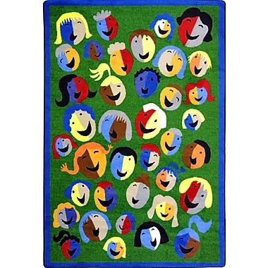 Joy Carpets – Tapis Joyful Faces, 5 pi 4 po x 7 pi 8 po, vert