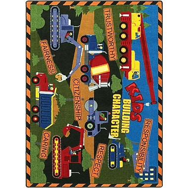 Joy Carpets – Tapis Kid's building character, 10 pi 9 po x 13 pi, multicolore