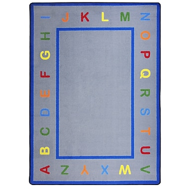 Joy Carpets – Tapis Learn Your Letters, 5 pi x 7 pi 8 po, couleurs variées