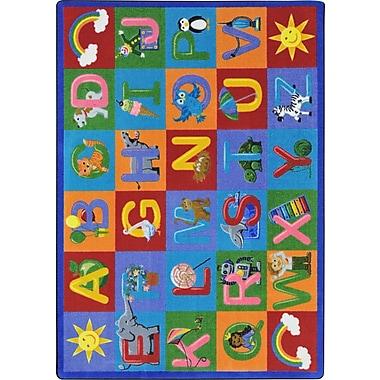 Joy Carpets – Tapis pour apprendre les lettres, 10 pi 9 po x 13 po, multicolore
