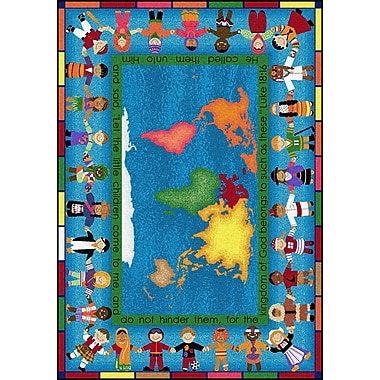 Joy Carpets – Tapis let the children come, 7 pi 8 po x 10 pi 9 po, multicolore