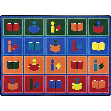 Joy Carpets – Tapis Library blocks, 5 pi x 7 pi 8 po, multicolore