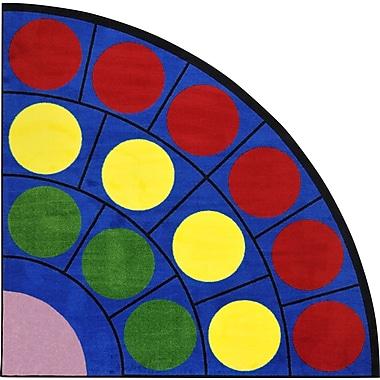 Joy Carpets – Tapis Lots of Dots, 6 pi 7 po, quart de cercle, couleurs variées