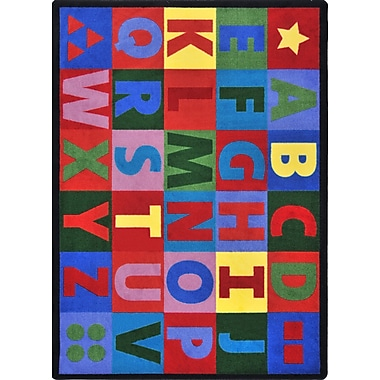 Joy Carpets Oversize Alphabet, 7'8