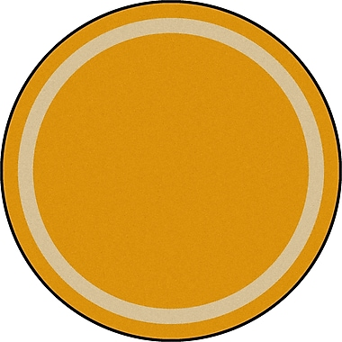 Joy Carpets – Tapis Portrait, 7 pi 7 po, rond, verge d'or