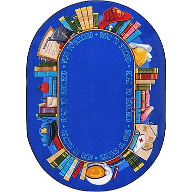 Joy Carpets – Tapis Read to Succeed, 10 pi 9 po x 13 po, Ovale Couleurs variées