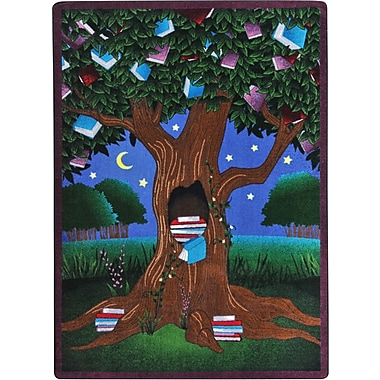 Joy Carpets – Tapis Reading Tree, 7 pi 8 po x 10 pi 9 po, couleurs variées
