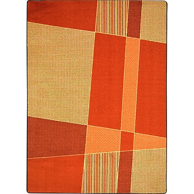 Joy Carpets – Tapis Spazz, 10 pi 9 po x 13 pi, orange