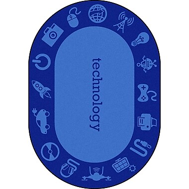 Joy Carpets – Tapis STEAM, 5 pi x 7 pi 8 po, ovale, technology