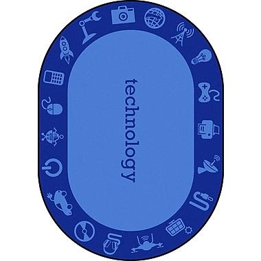Joy Carpets – Tapis STEAM, 7 pi 8 po x 10 pi 9 po, ovale, technology