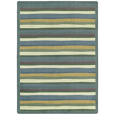 Joy Carpets – Tapis Yipes Stripes, 5 pi, rond, teintes douces