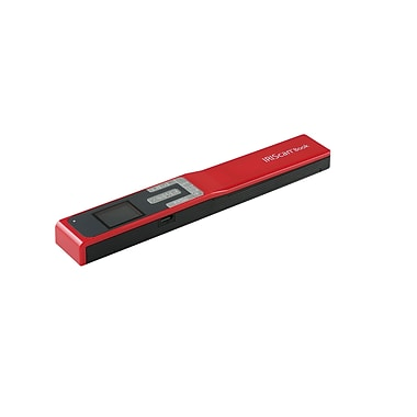 IRIS IRIScan Book 5 Portable Cordless Document Scanner, Red (458744)