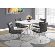 Monarch 1038 Dining Table With Chrome Metal White