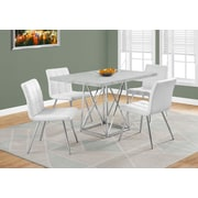 Monarch 1043 Dining Table With Chrome Metal Grey