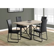 Monarch 1100 Dining Table With Black Metal Taupe