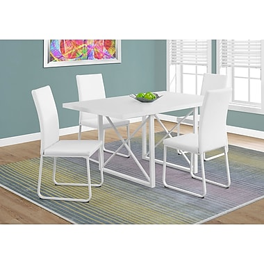 Monarch 1101 Dining Table With White Metal Wht