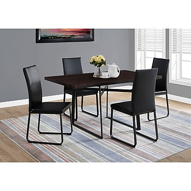 Monarch 1105 Dining Table With Black Metal Capp