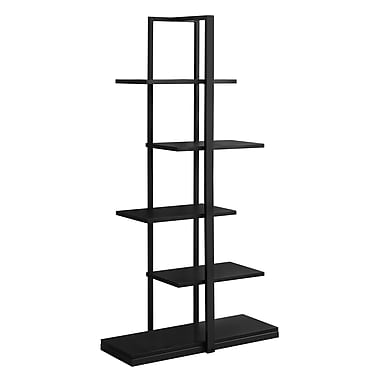 Monarch 7231 Bookcase Black Metal, Black