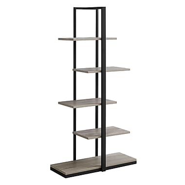 Monarch 7232 Bookcase Black Metal, Taupe
