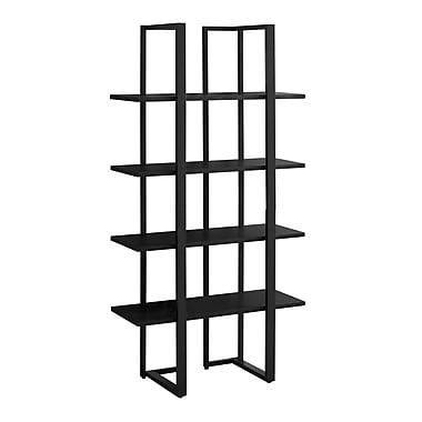 Monarch 7236 Black Metal Bookcase, Black