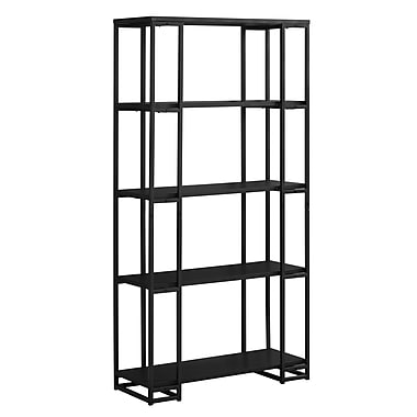 Monarch 7240 Metal Bookcase, Black