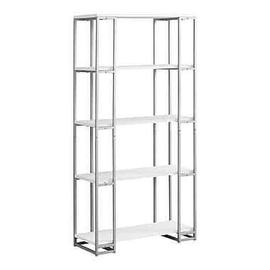 Monarch 7242 Metal Bookcase, White