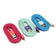 BlueDiamond ToGo Lightning Sync & Charge Cables, 3/Pack