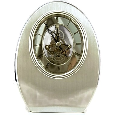 Elegance Oval Shaped Skeleton Mantle Clock