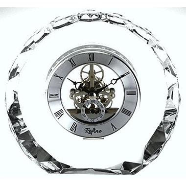 Elegance Crystal Round Skeleton Clock