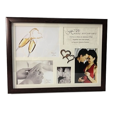 Elegance 25th Anniversary Collage Photo Frame