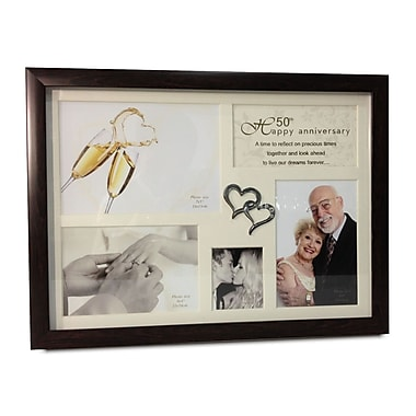 Elegance 50th Anniversary Collage Photo Frame