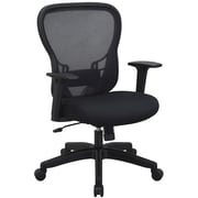 Space Seating R2 SpaceGrid Back Chair, Padded Mesh Seat, Black (529-37N11)