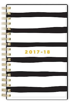 2017-2018 Ashley G for Blue Sky 3.625x6.125 Planner, Black Stripe (101391)