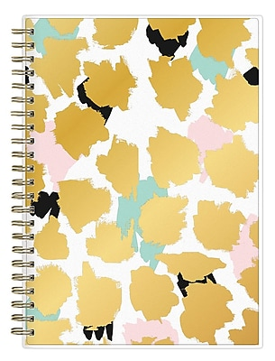 2017-2018 Ashley G for Blue Sky 5.875x8.625 Planner Notes, Gold Multi (102802)